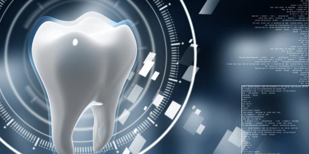 35292512 – digital illustration of teeth in colour  background