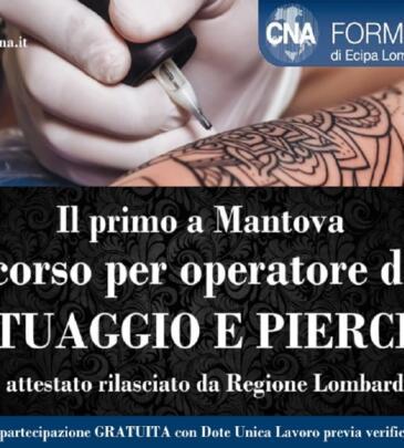 Operatore di Tatuaggio e Piercing | MN – Ottobre 2018