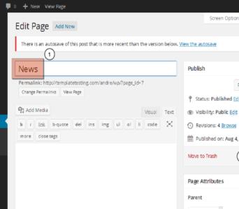 CREARE IL SITO WEB AZIENDALE:  corso introduttivo all'uso di WordPress