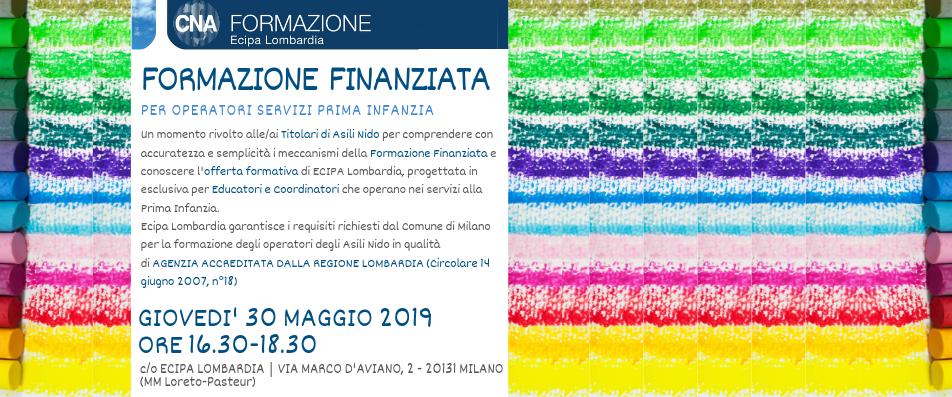 Evento Gratuito 30/05/2019 | FORMAZIONE FINANZIATA per OPERATORI SERVIZI PRIMA INFANZIA