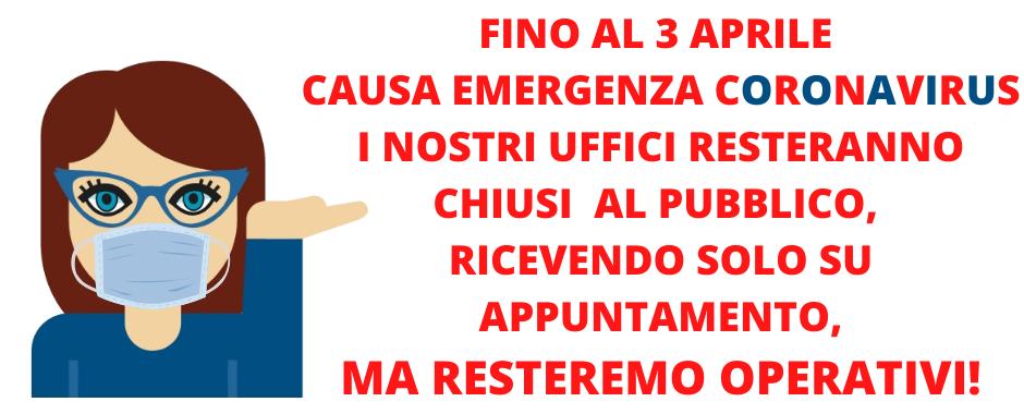 Operatività degli uffici di ECIPA Lombardia fino al 3 aprile 2020