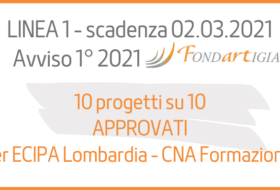 10 su 10 i progetti approvati per ECIPA!