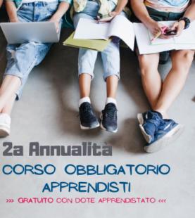 Corso OBBLIGATORIO APPRENDISTI 2annualità | Settembre 2021 <br> >>> formazione a distanza <<<
