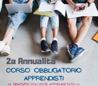 Corso OBBLIGATORIO APPRENDISTI 2annualità   Settembre 2021 <br> >>> formazione a distanza <<<